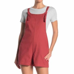 NWT ModCloth Day After Day Tie Knot Red Romper